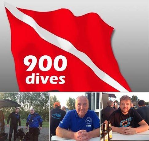Marcel Jongen makt zijn 900ste duik